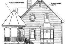 Victorian Exterior - Rear Elevation Plan #23-219