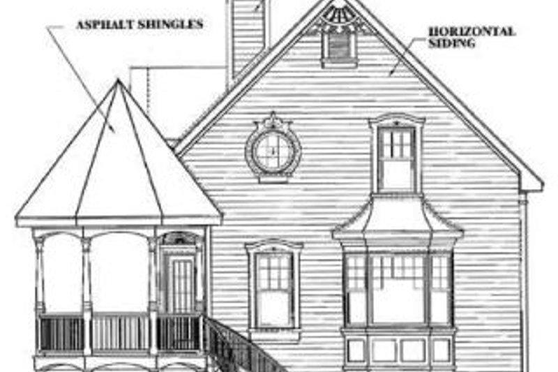 Victorian Exterior - Rear Elevation Plan #23-219 - Houseplans.com