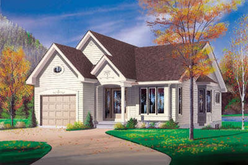 Architectural House Design - Traditional Exterior - Front Elevation Plan #23-125