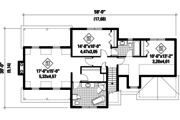 Country Style House Plan - 3 Beds 2 Baths 2119 Sq/Ft Plan #25-4672 Floor Plan - Upper Floor Plan