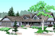 Country Style House Plan - 3 Beds 2 Baths 2397 Sq/Ft Plan #60-186 Exterior - Front Elevation