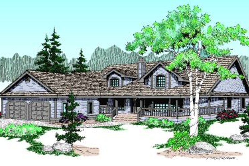 Country Exterior - Front Elevation Plan #60-186 - Houseplans.com
