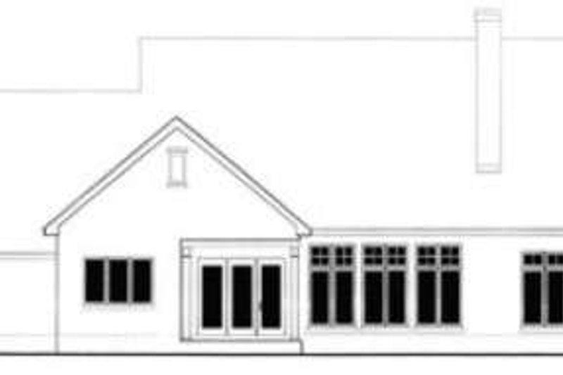Traditional Exterior - Rear Elevation Plan #406-226 - Houseplans.com