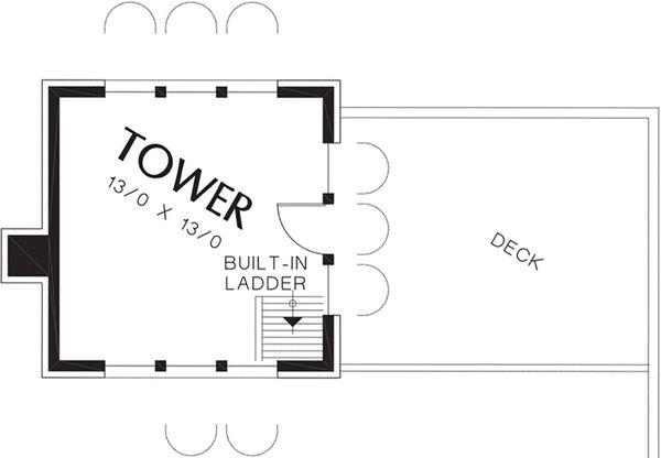 Mediterranean Floor Plan - Other Floor Plan Plan #48-361