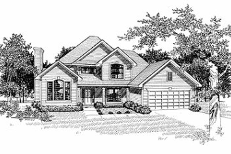 Dream House Plan - Traditional Exterior - Front Elevation Plan #70-408