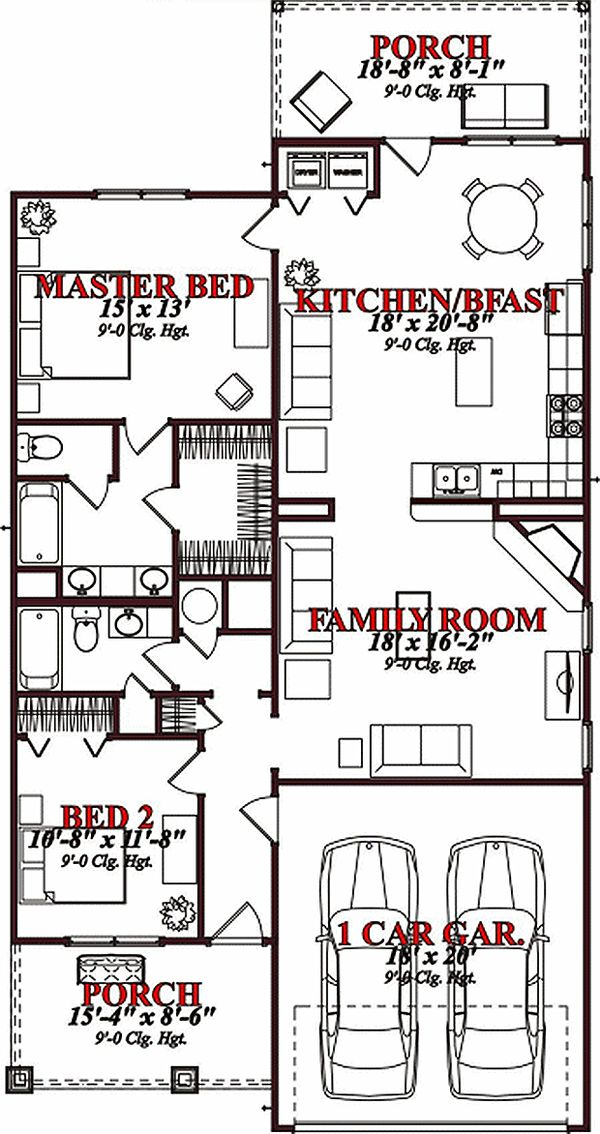 Traditional Floor Plan - Main Floor Plan Plan #63-150