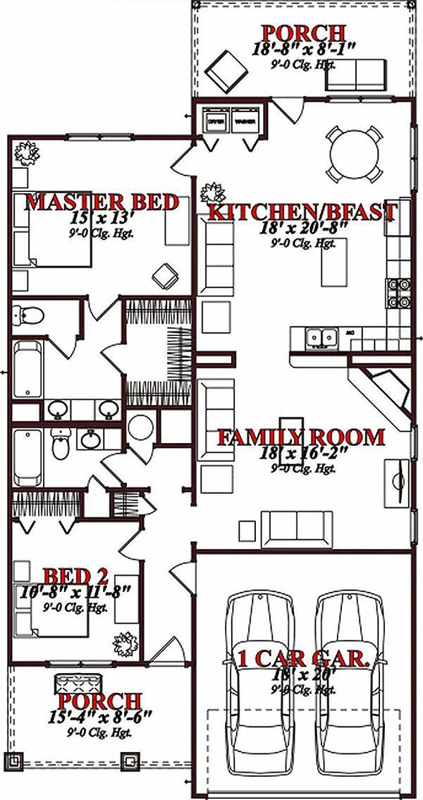Traditional Floor Plan - Main Floor Plan #63-150