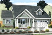 Cottage Style House Plan - 3 Beds 2 Baths 1570 Sq/Ft Plan #513-2089 Exterior - Front Elevation