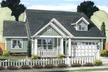 Dream House Plan - Cottage Exterior - Front Elevation Plan #513-2089