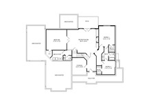 Craftsman Floor Plan - Lower Floor Plan Plan #920-105