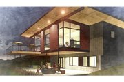 Modern Style House Plan - 4 Beds 3.5 Baths 3056 Sq/Ft Plan #498-6 Exterior - Outdoor Living
