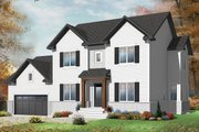 Traditional Style House Plan - 4 Beds 2.5 Baths 2573 Sq/Ft Plan #23-2392 Exterior - Front Elevation