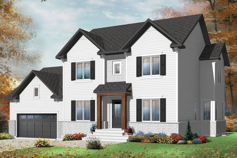 Dream House Plan - Traditional Exterior - Front Elevation Plan #23-2392