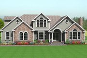 Traditional Style House Plan - 3 Beds 2.5 Baths 2694 Sq/Ft Plan #75-170 Exterior - Front Elevation