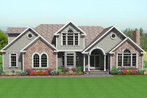 Traditional Exterior - Front Elevation Plan #75-170
