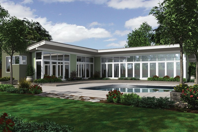 House Plan Design - Modern 2500 square foot 3 bedroom 2 1/2 bath house plan