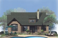 House Plan Design - Ranch Exterior - Rear Elevation Plan #929-645