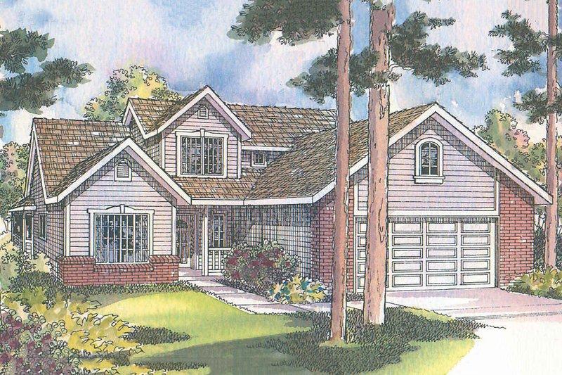 Dream House Plan - Farmhouse Exterior - Front Elevation Plan #124-447