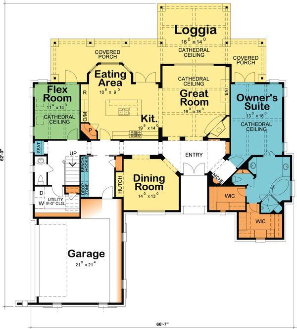 European Floor Plan - Main Floor Plan Plan #20-2172