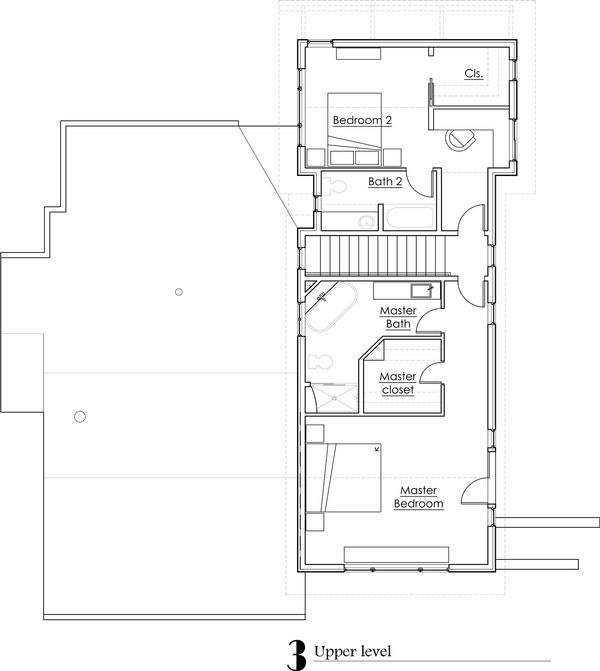 Craftsman Floor Plan - Upper Floor Plan #902-2