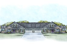 Ranch Exterior - Front Elevation Plan #20-2058