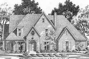 European Style House Plan - 5 Beds 5 Baths 4457 Sq/Ft Plan #141-101 Exterior - Front Elevation