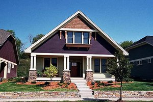 Architectural House Design - Craftsman Exterior - Front Elevation Plan #51-346