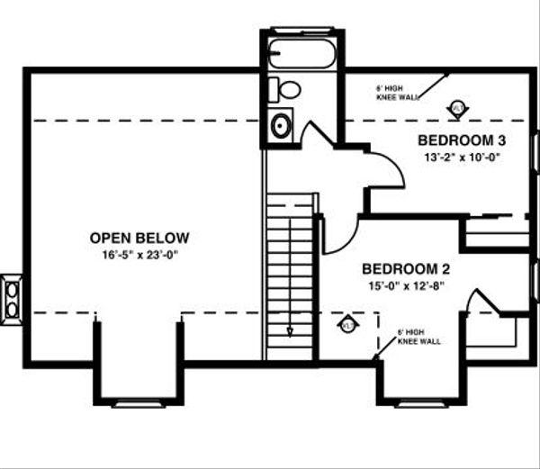 Farmhouse Floor Plan - Upper Floor Plan Plan #56-242