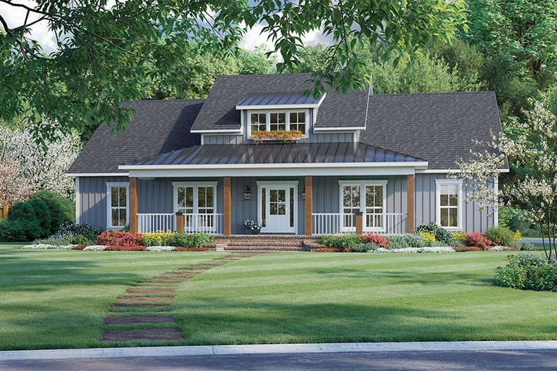 Farmhouse Style House Plan - 3 Beds 2 Baths 2041 Sq/Ft Plan #21-462