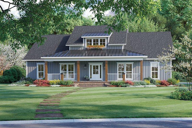 Dream House Plan - Farmhouse Exterior - Front Elevation Plan #21-462