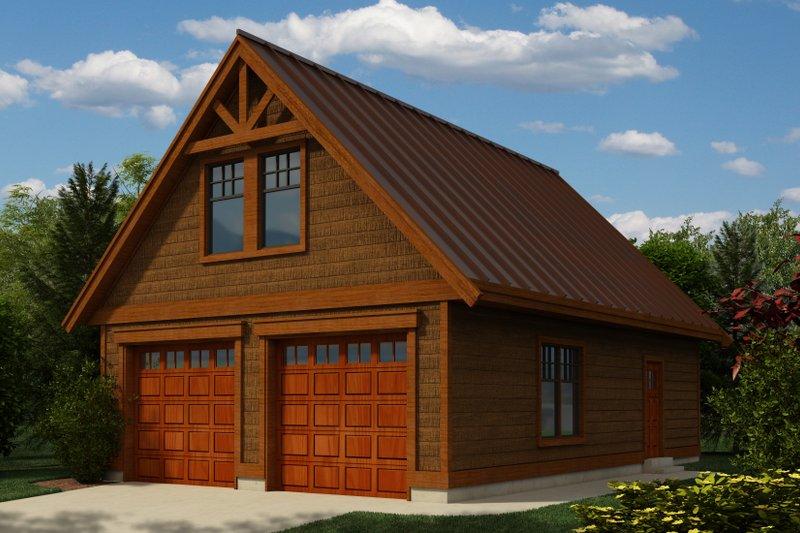 Craftsman Exterior - Front Elevation Plan #118-124 - Houseplans.com