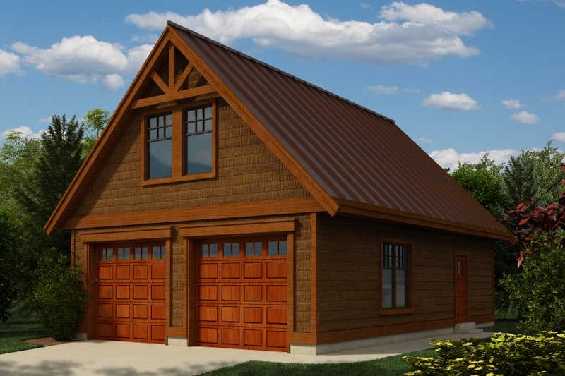 Craftsman Style House Plan - 0 Beds 1 Baths 864 Sq/Ft Plan #118-124 Exterior - Front Elevation
