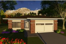 Prairie Exterior - Front Elevation Plan #70-1261