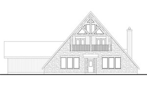 Cabin Exterior - Front Elevation Plan #80-204