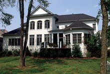 Dream House Plan - Colonial Exterior - Rear Elevation Plan #453-27