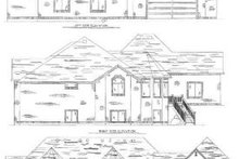 Home Plan - Exterior - Rear Elevation Plan #5-163