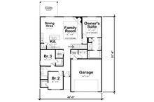 Farmhouse Floor Plan - Main Floor Plan Plan #20-2354