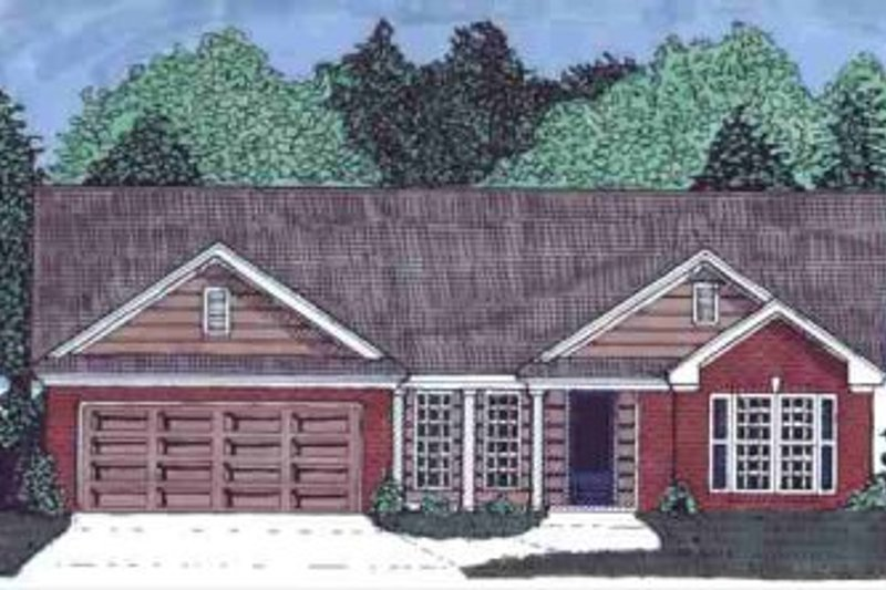 Traditional Style House Plan - 4 Beds 2 Baths 1667 Sq/Ft Plan #69-116