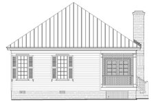 Southern Exterior - Rear Elevation Plan #137-271