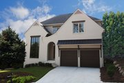 Tudor Style House Plan - 4 Beds 4.5 Baths 3104 Sq/Ft Plan #54-399 Exterior - Front Elevation