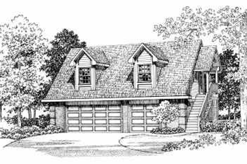 House Blueprint - Country Exterior - Front Elevation Plan #72-287