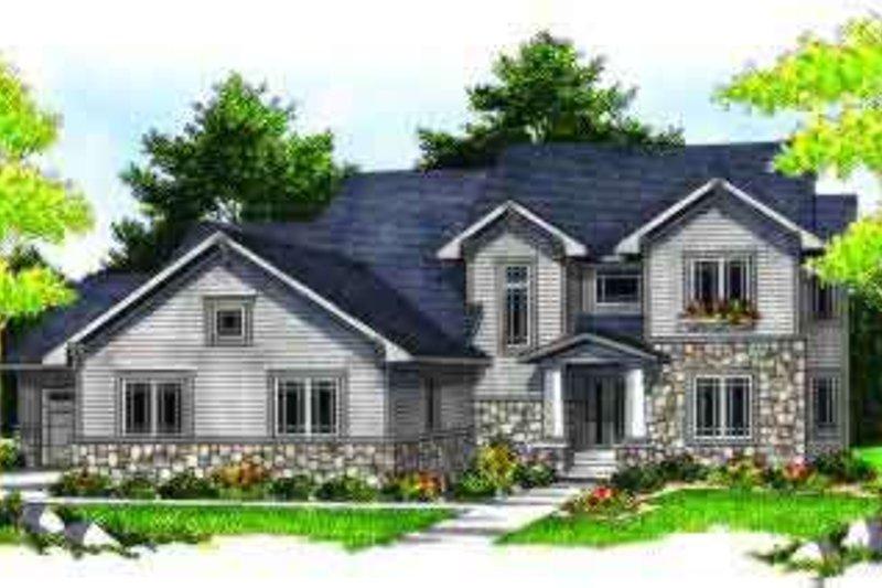 Craftsman Exterior - Front Elevation Plan #70-630