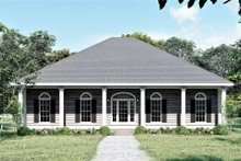 Southern Exterior - Front Elevation Plan #44-168