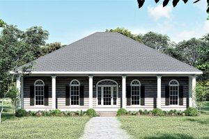 House Design - Southern Exterior - Front Elevation Plan #44-168