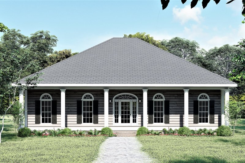 Southern Style House Plan - 3 Beds 2 Baths 1640 Sq/Ft Plan #44-168 Exterior - Front Elevation
