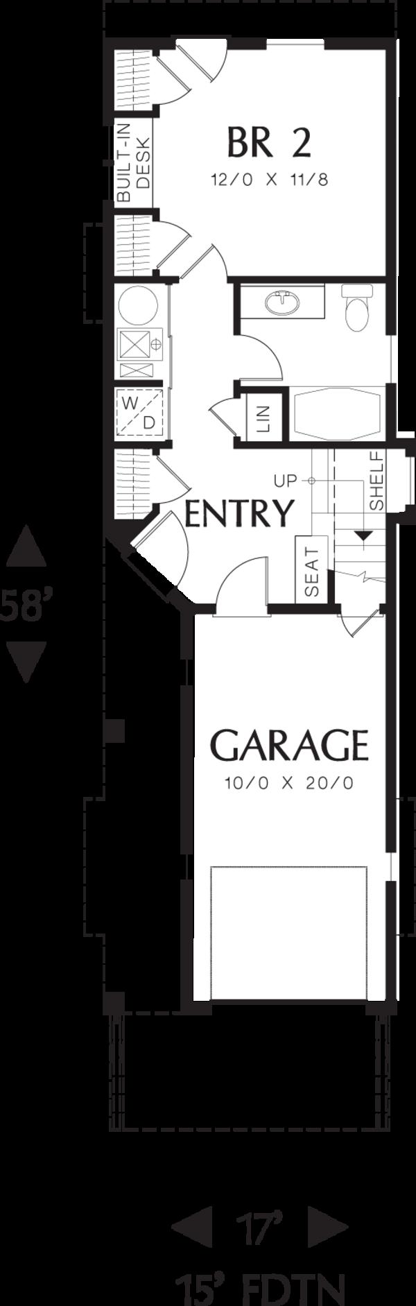 Craftsman Floor Plan - Main Floor Plan #48-569