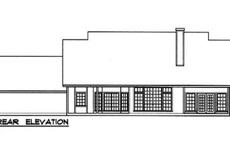 Country Exterior - Rear Elevation Plan #40-180 - Houseplans.com