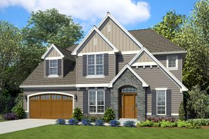 Craftsman Exterior - Front Elevation Plan #48-932