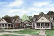 Southern Style House Plan - 3 Beds 3.5 Baths 4470 Sq/Ft Plan #17-2263 Exterior - Front Elevation