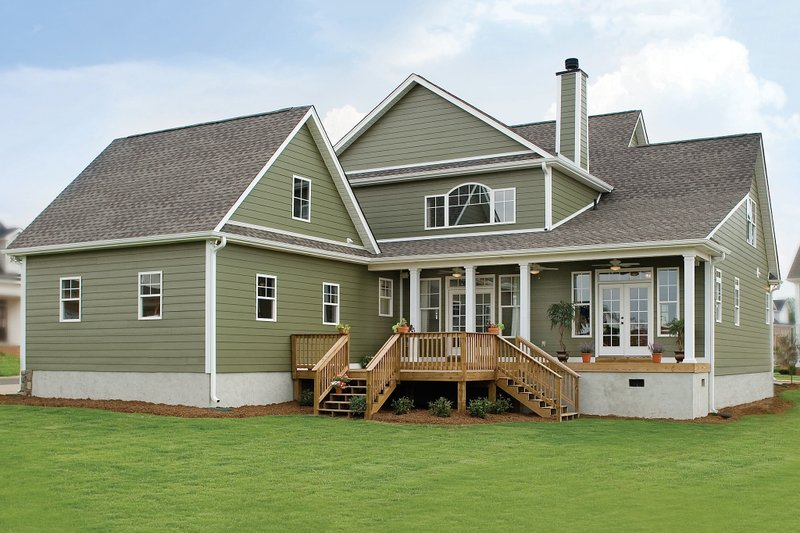 Country Exterior - Rear Elevation Plan #929-19 - Houseplans.com